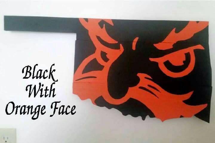Oklahoma state university, oklahoma, oklahoma sign, oklahoma wood sign, pistol pete, rustic wall decor, reclaimed wood by WattsUniqueTreasures on Etsy https://www.etsy.com/listing/252749807/oklahoma-state-university-oklahoma