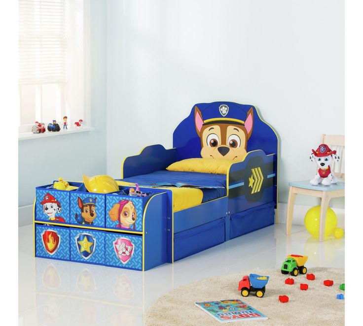buy paw patrol cube toddler bed frame blue at argos co on innovative ideas for useful beds with storages how to declutter your bedroom id=30951