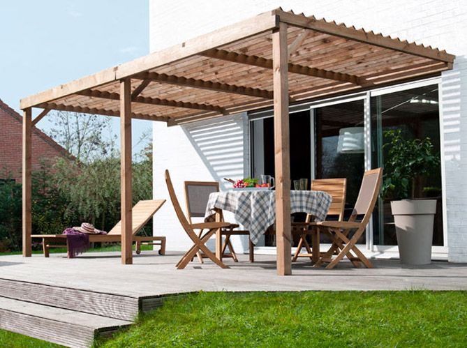 comment faire une pergola soi meme interesting comment construire une pergola en bois pour. Black Bedroom Furniture Sets. Home Design Ideas
