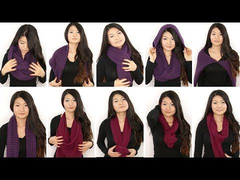 Learn how to wear in infinity scarf 10 different ways #thepolkadottedzebraboutique #infinityscarfvideo