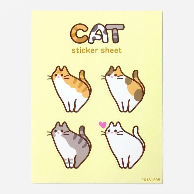 かわいい絵柄の猫の型抜きシールです。■内容(1セット)1シート8匹の型抜きシール×2枚1シート4匹の型抜きシール×1枚計3枚素材:アート紙(オンデマンド印刷 型抜きシール)