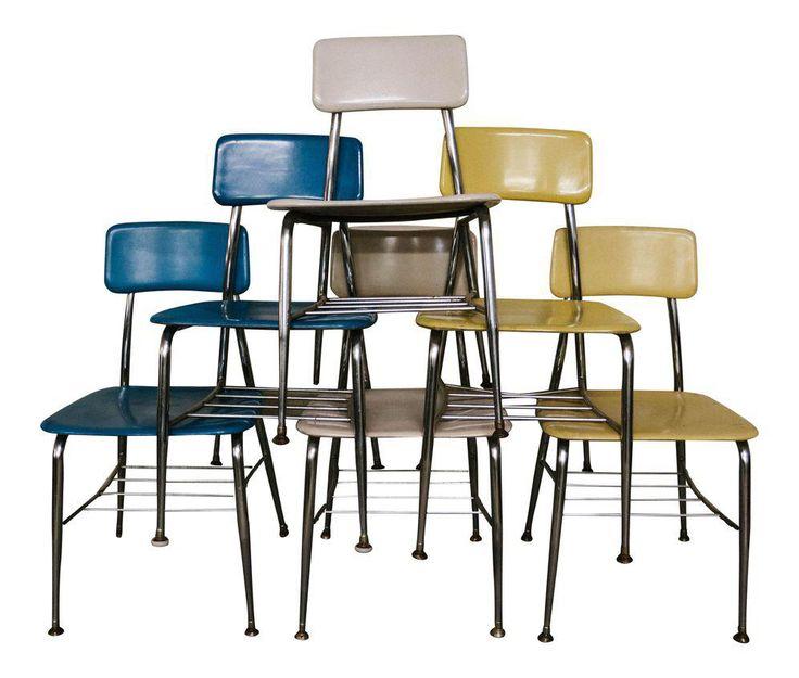 Heywood Wakefield Vintage School Chairs - Set of 6 on Chairish.com