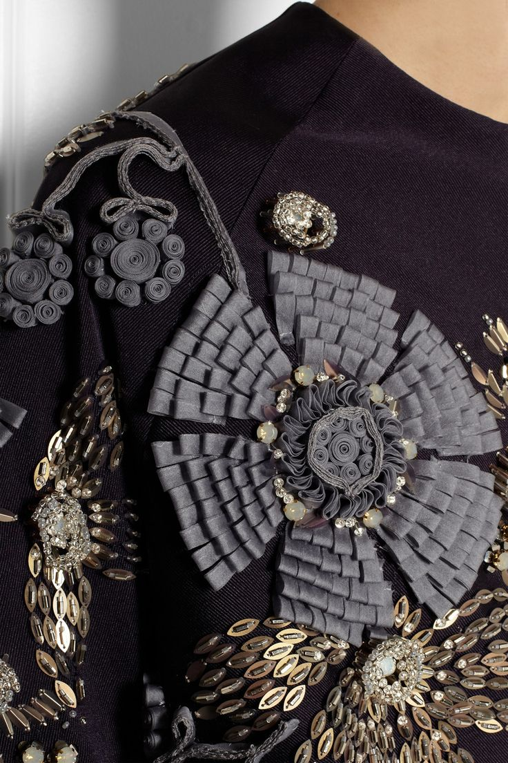 Biyan Kinara Embellished Faille Jacket in Blue | Lyst