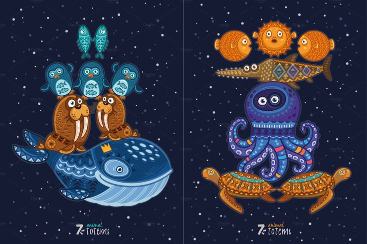 7 Animal Totems by PenguinHouse on @creativemarket