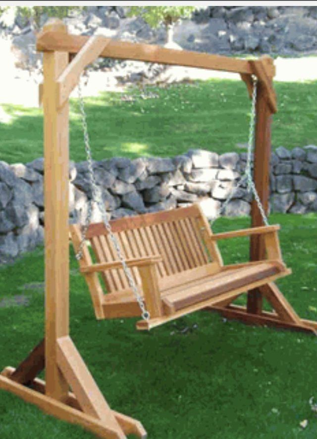 Looking for someone to build a free standing swing frame in Kingwood  OUTDOORS in 2019  Porch