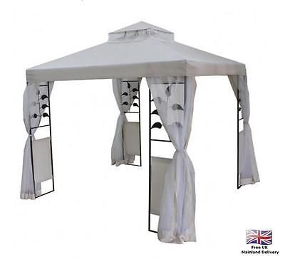 Metal frame gazebo #garden outdoor camping bbq steel #canopy party tent #w aterpro,  View more on the LINK: 	http://www.zeppy.io/product/gb/2/162136752469/