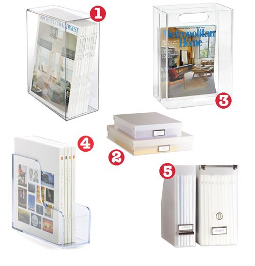 Professional Organizer Beth Zeigler gives advice on what containers to use for magazine display and storage