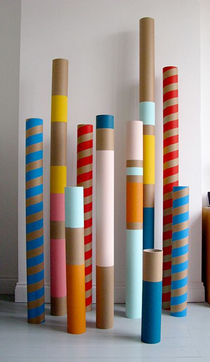 Studio Emmi...could use fabric rolls from work?!