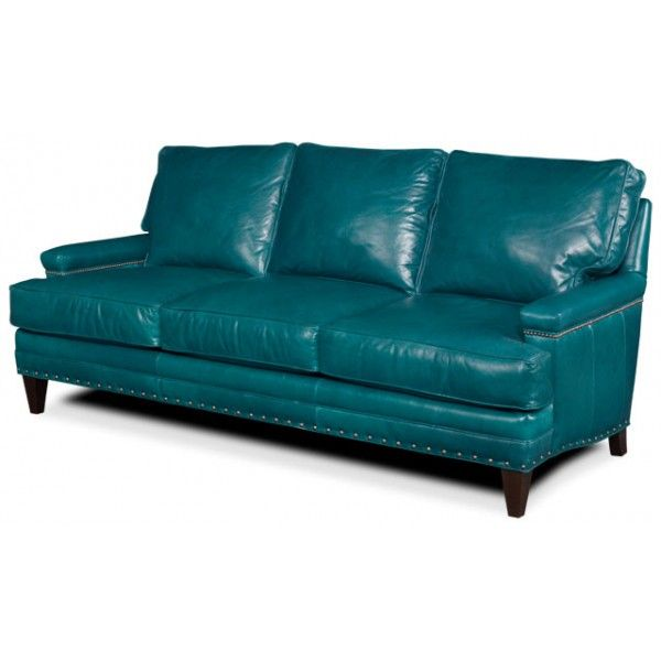 Turquoise Leather Sectional Sofa Thesofa