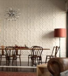 Shield Design As A White Feature Wall From Pressed Tin Panels The Large Format Makes