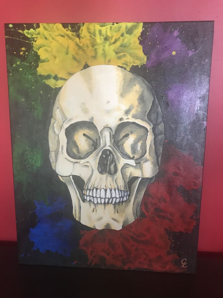 'Héctor' skull by Carolyn Lopes