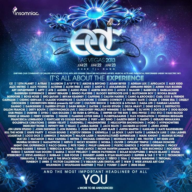 EDC 2012 line up