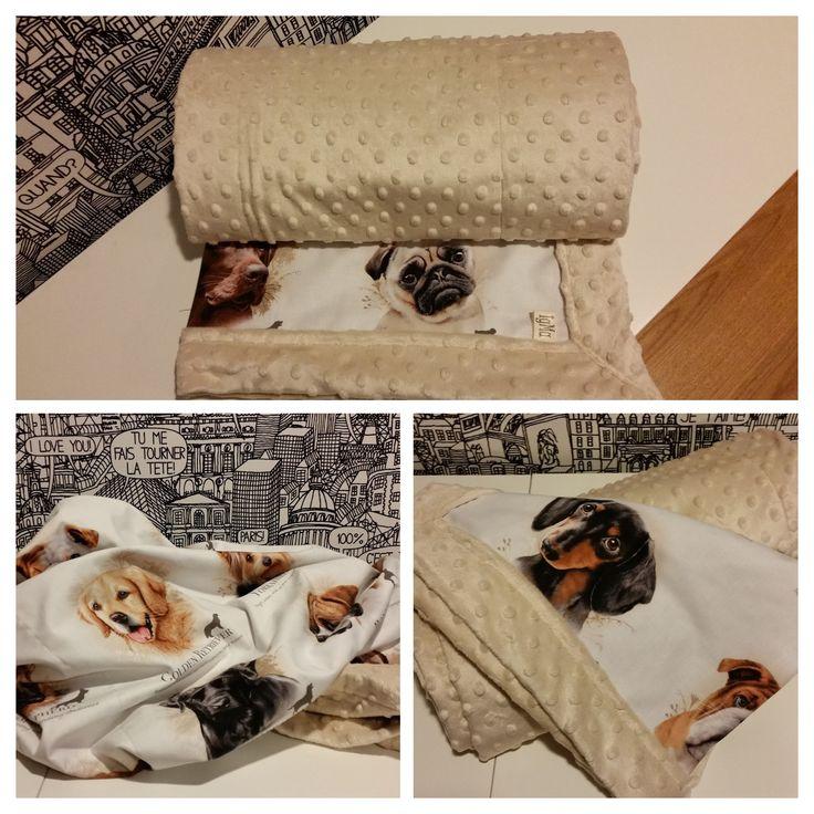 koc dla miłośników psów minky blanket