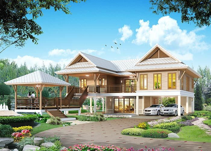 Best 25 thai house ideas on pinterest jungle house for Thai style house design