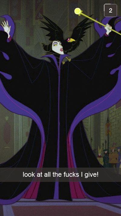 23 Fabulous Disney Villain Snapchats - Maleficent's is the best!!!