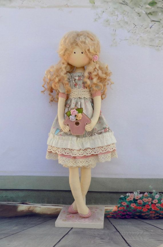 Tilda Doll Maria 32 cm-Handmade Doll-Vintage by HandmadeDollhouse