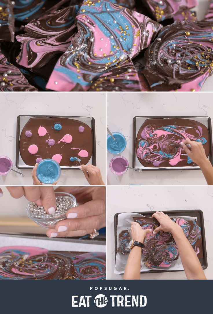 Need a last-minute gift idea? This DIY galaxy chocolate bark makes the perfect food gift!