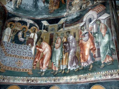 Serbia - Studenica Monastery 12th-13th Century interior frescoes.