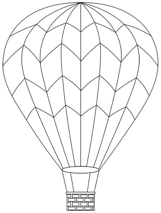 Hot air balloon - April 29 (can print more templates too)