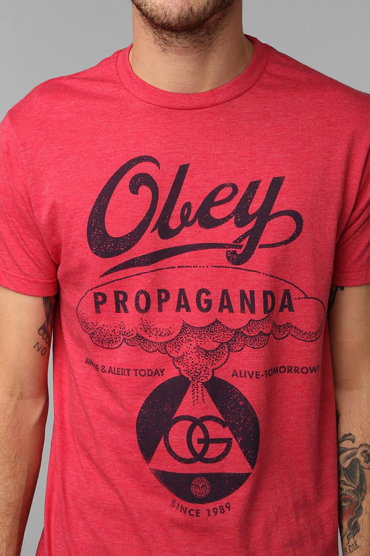T shirt design quad cities - Urban Outfitters Obey Nuclear Attack Tee