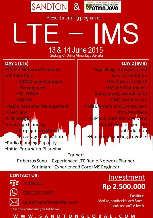 Please join with us for Training LTE 13-14 June 2015