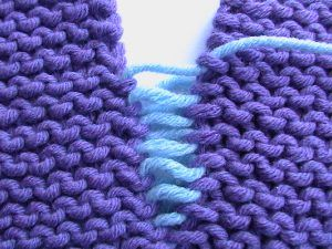 Invisible Seaming On Stockinette Stitch And On Garter
