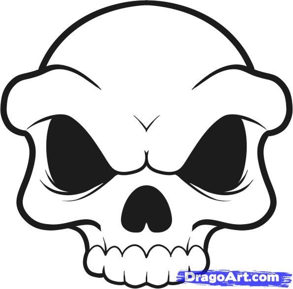 the 25 best ideas about easy skull drawings on pinterest