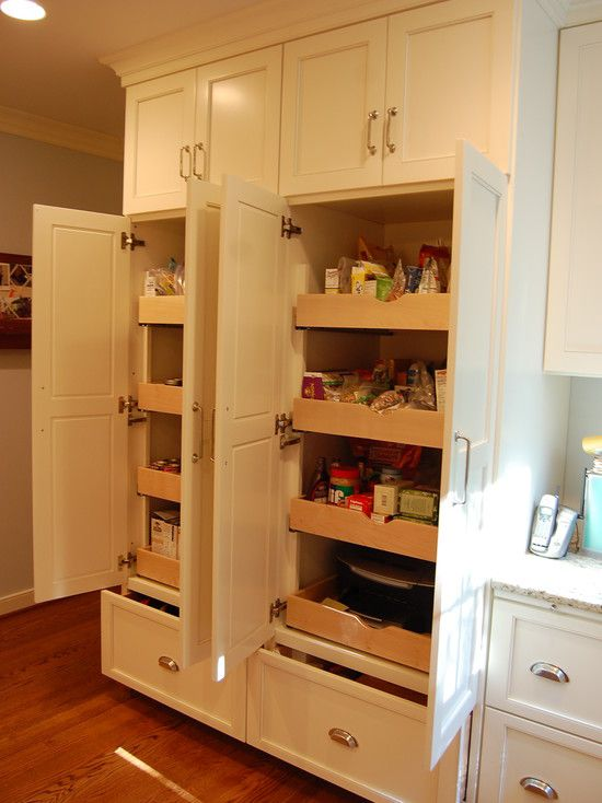 25 best ideas about built in refrigerator on pinterest for Add drawers to kitchen cabinets