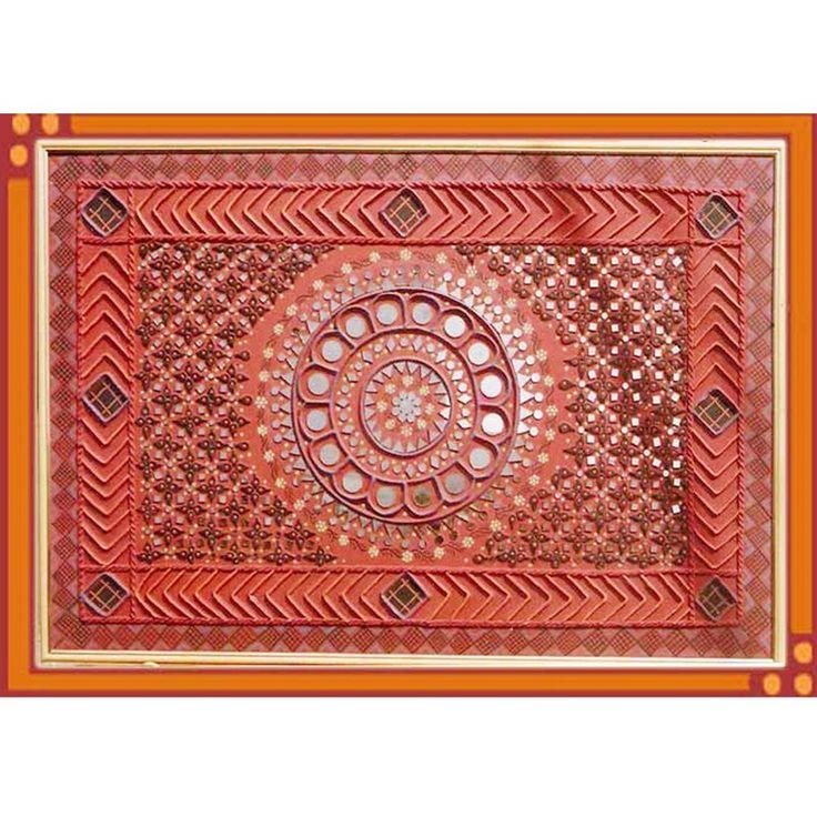 kutch mud art | Kutch Mudwork Hanging-Home Decor-Meera Handicrafts