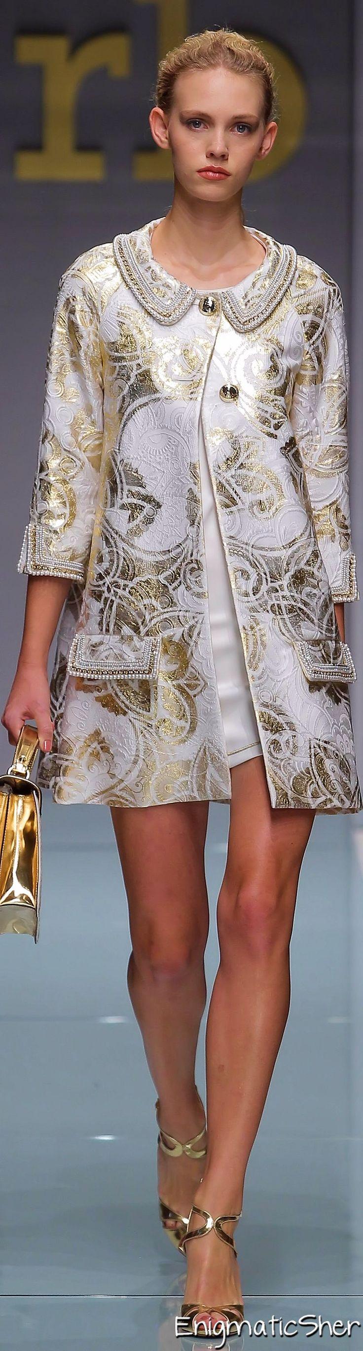 Roccobarocco ~ Spring Mini, White w Gold Embellishments 2015