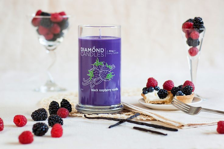 PIN NOW SHOP LATER! Black Raspberry Vanilla Diamond Candle: 100% sugar rush, 0% guilt. This candy-scented candle is as sweet as Gummy Bears and Gobstoppers! Don't forget about the ring in every candle as well! Gotta love candles, right? $24.95