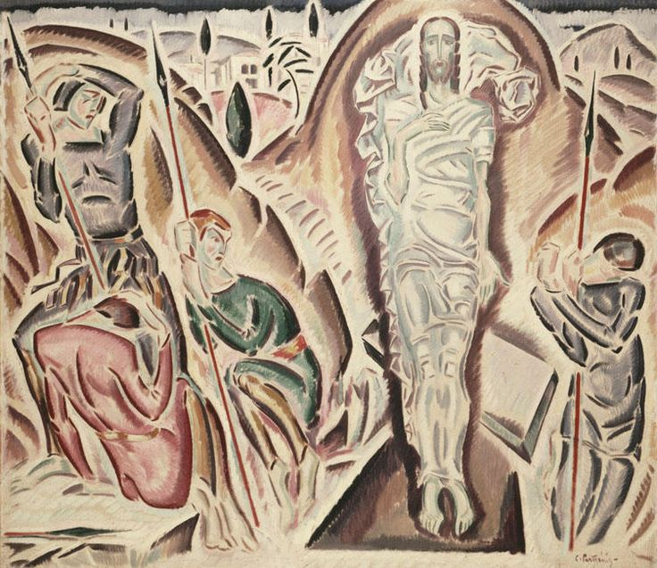 'The Resurrection', Oil On Canvas by Konstantinos Parthenis (1878-1967, Egypt)