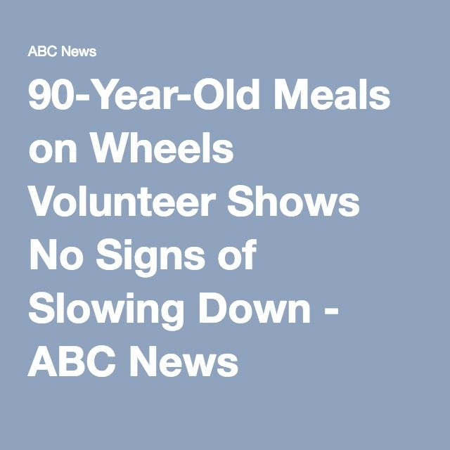 90-Year-Old Meals on Wheels Volunteer Shows No Signs of Slowing Down - ABC News