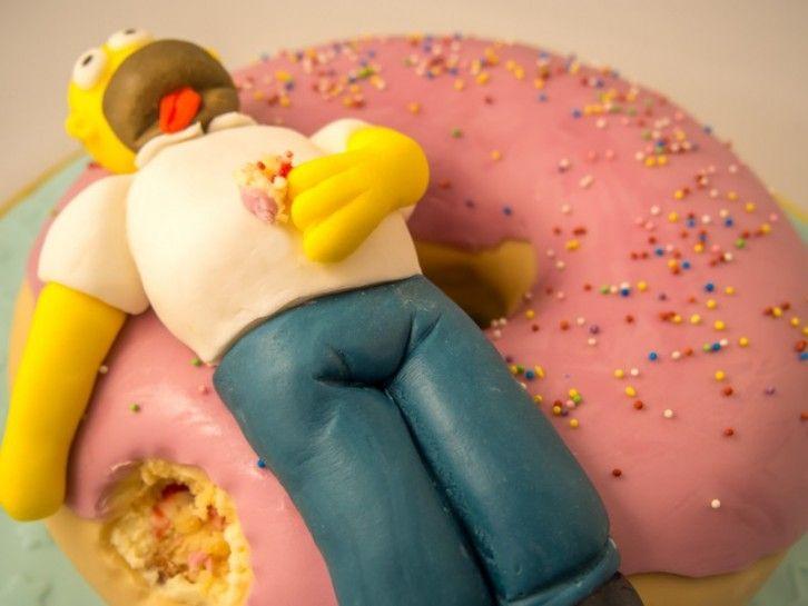 Simpsons Torte: Ein Riesendonut für Homer Simpson {Video}