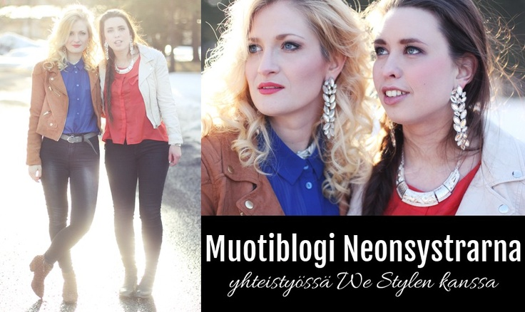 """The bloggers """"Neonsystrarna"""" show how they match their We Style-jewellery."""
