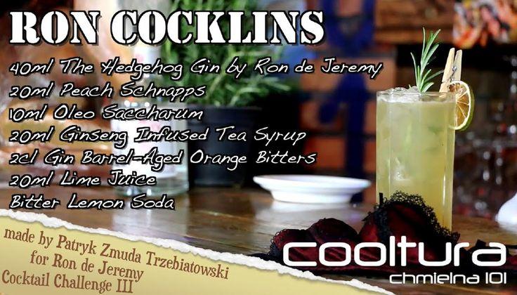 Ron Cocklins🍆  - by Patryk Zmuda, youtube channel: Cooltura Chmielna101  . . . . . . . . . . . . . . . . . . . . . . . . . . . . . . . . . . . . . . . . #rondejeremy #cocktails #bartenders #tasty #rum #rumwithatwist #theoriginaladultrum #ronjeremyrum #mixology #mixing #creative