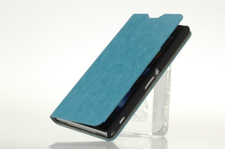 OEM Θήκη Δερμάτινη Πορτοφόλι (Wallet Case) - Γαλάζιο (Xperia Z1 L39h) - myThiki.gr - Θήκες Κινητών-Αξεσουάρ για Smartphones και Tablets - Χρώμα γαλάζιο