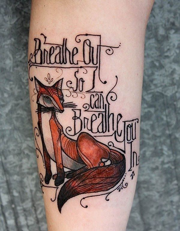 tatouage-avant-bras-message-renard