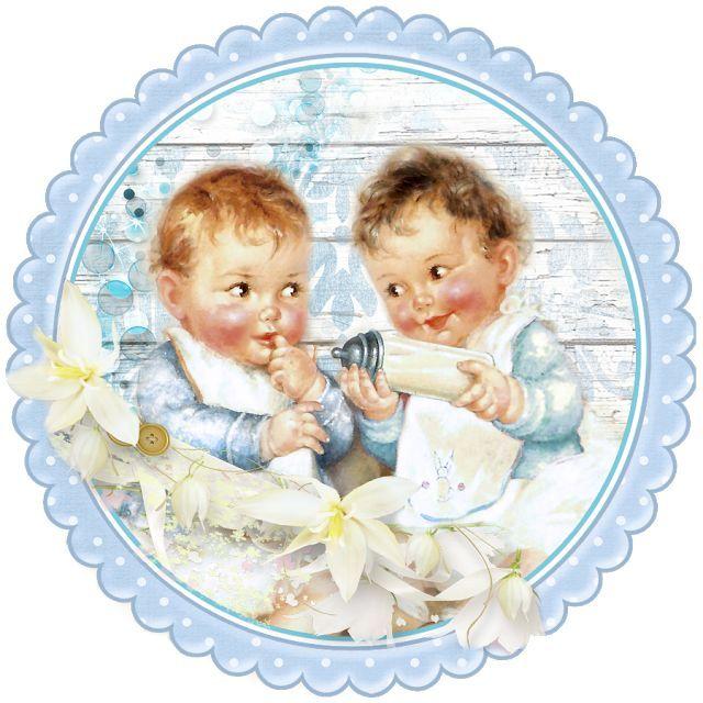 Открытки на рождение двойняшек нарисованные, днем рождения подруге