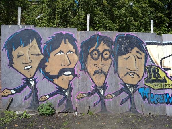 Beatles graffiti on Princes Road, L8