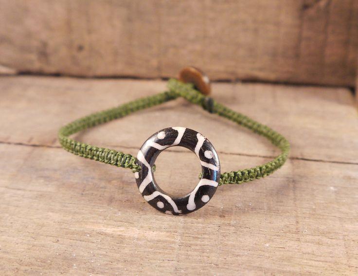 Bone Karma Bracelet, Bone jewelry, karma jewelry, circle of life, surf bracelet, surf jewelry, braided bracelet, tribal ethnic jewelry by MightyMoon on Etsy