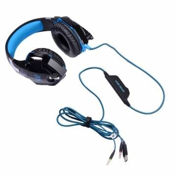 KOTION EACH G2000 Over Ear Stereo Bass Gaming Headphone Headset Earphone Headband with Mic LED For PC Game Sale - Banggood.com