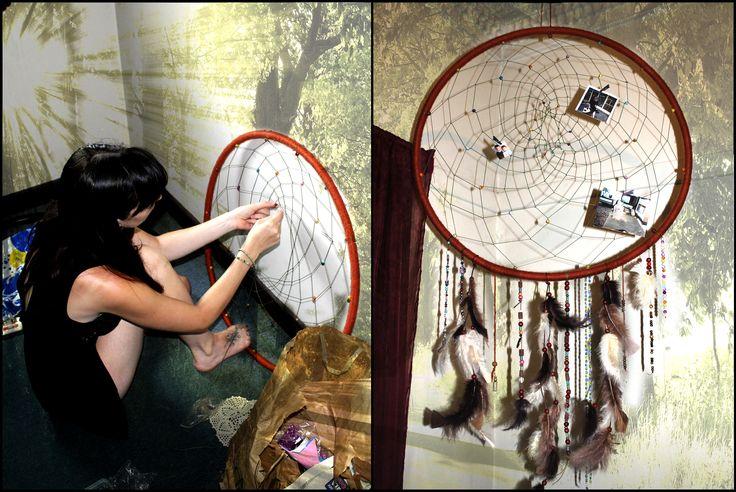 <3 Hula Hoop Dreamcatcher <3 by Kimberley Petrovics #dreamcatcher #hoola #hoop #gypsy #photo #frame #ideas #craft #hula