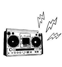 Image result for boombox drawing