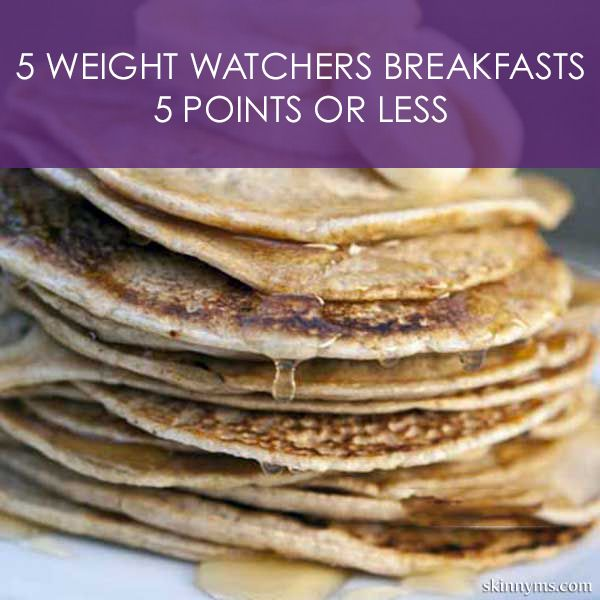 5 Weight Watchers Breakfasts with 5 Points or Less - Having a healthy breakfast is key to weight loss success. Here are 5 options to add to your breakfast menu. #weightwatchers #recipes