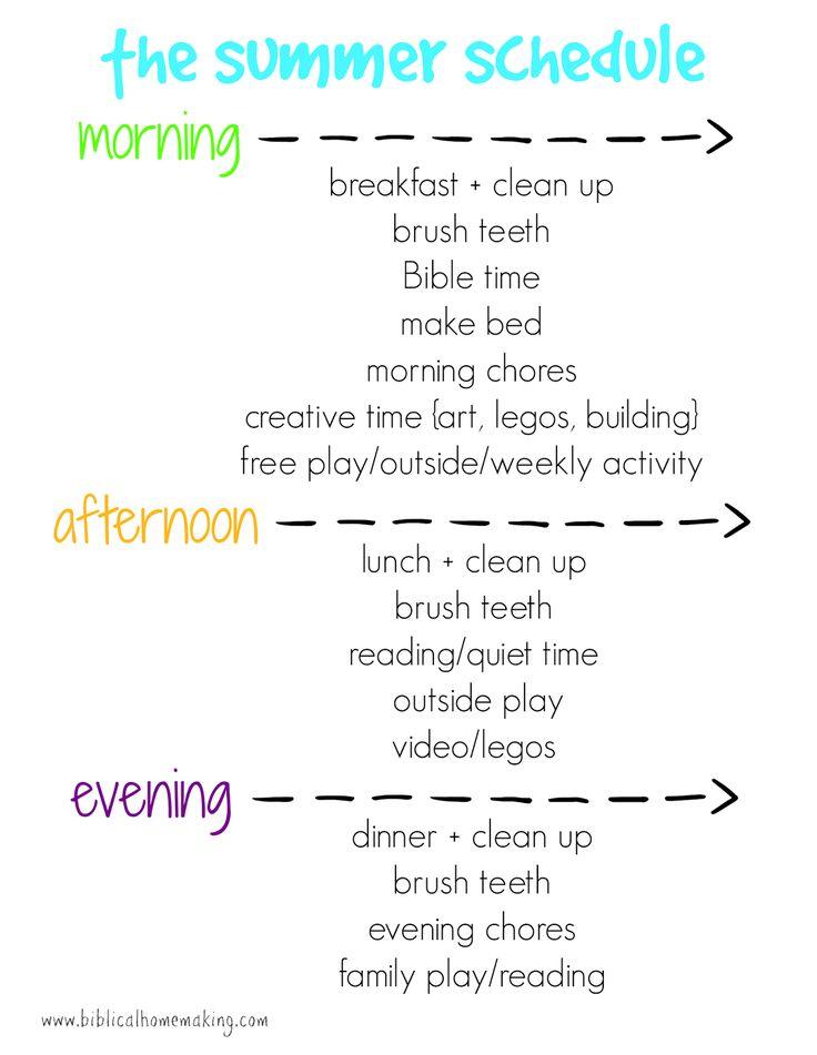 make time schedule
