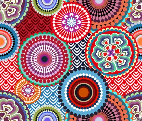 eclectic_flowers fabric by chicca_besso on Spoonflower - custom fabric