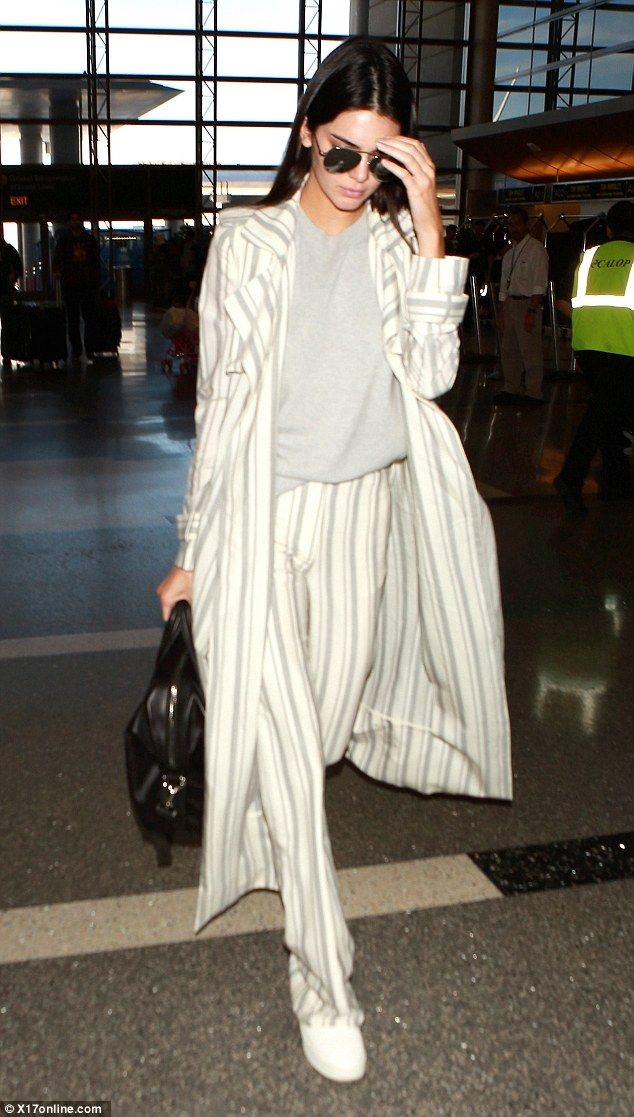Bonjour!Kendall Kenner jetted into Paris on Friday to join the great and the good at the Men's Fashion Week shows in the French capital