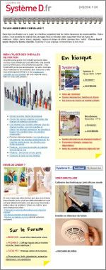 Et si vous vous inscriviez à notre newsletter hebdomadaire de SystèmeD.fr ?