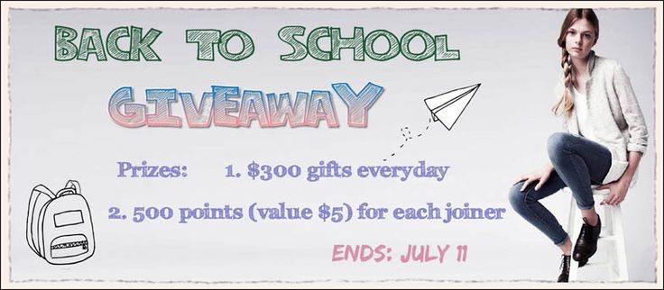Welcome To Join Our Back To School Giveaway